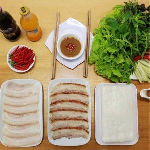 Bánh tráng cuốn thịt heo Đà Nẵng.