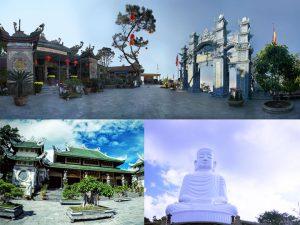 Cảnh quan 3 ngôi chùa Linh Ứng Đà Nẵng