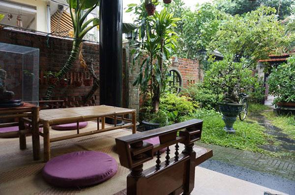 Khuôn viên trà thất Bồ Đề Lạt Ma